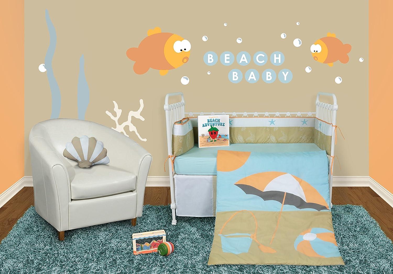 Beach Inspired Bedding Amazoncom Snuggleberry Baby Sun And Sand 6 Piece Crib Bedding