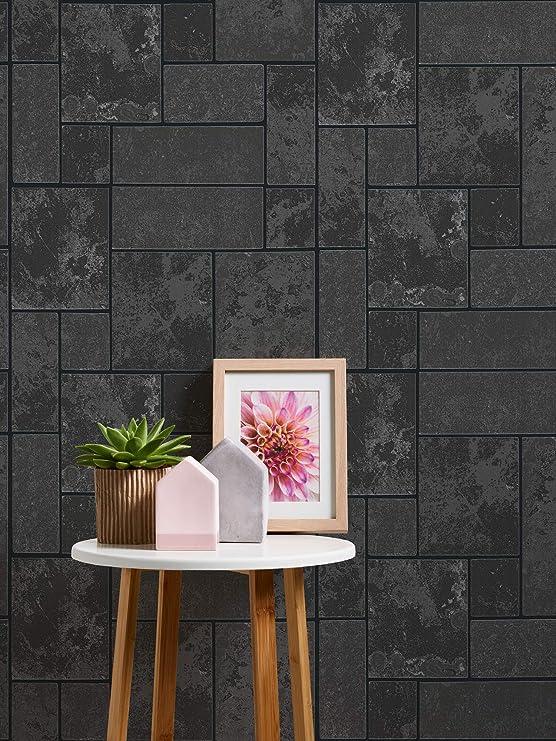 Como 34779 - 3 Negro con purpurina para azulejos pizarra ...