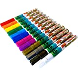 Paint Pens by Beric 12 pack, Paint Marker, Medium Point, Writes on Almost Anything, Water and Sun Resistant Vibrant Colors Low Odor Long Lasting Fast Drying Assorted Colors