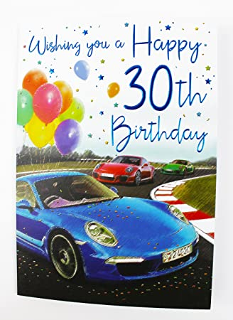 Happy 30th Birthday Greeting Card For Him Mens Age Quality Verse Male Milestone