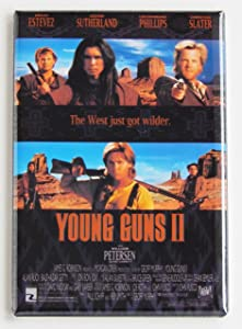Young Guns 2 Movie Poster Fridge Magnet (2.5 x 3.5 inches)