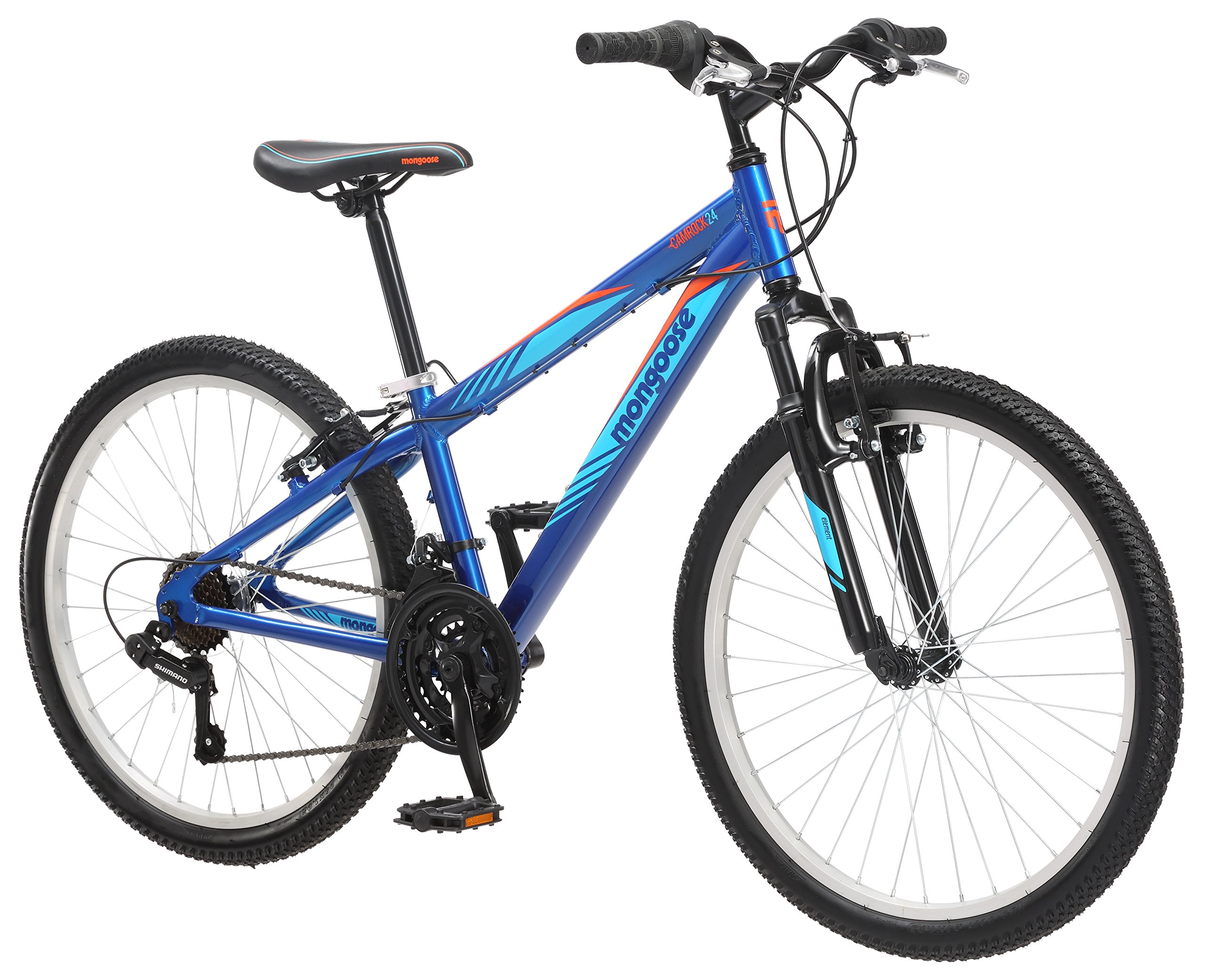 Mongoose Camrock 24'' Wheel Mountain Bicycle, Blue, One Size by Mongoose (Image #3)