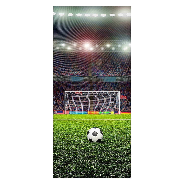 wandmotiv24 Carta da Parati per Porta Campo da Calcio Adesivo per Porta Adesiva per Porta da Parati 70 x 200 cm (L x H) - Carta