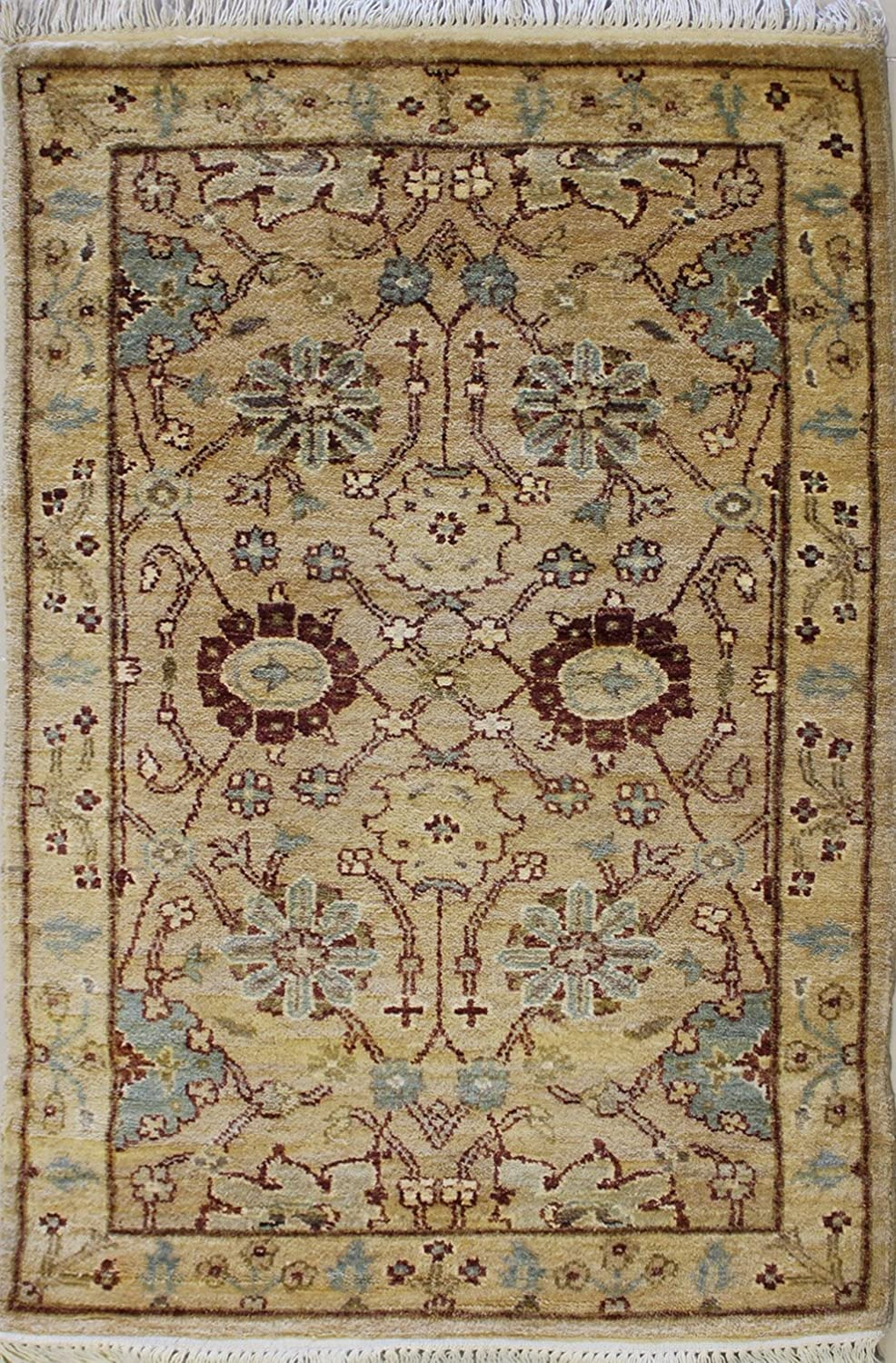 FREE DELIVERY 153 x 94 cm New Zeigler Chobi Hand Knotted Tribal Wool Area Rug