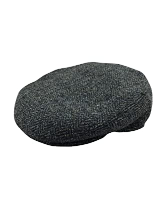 09eddbeacb2e4 Harris Tweed Mens 100% Flat Cap 4 Colours Available  Amazon.co.uk  Clothing