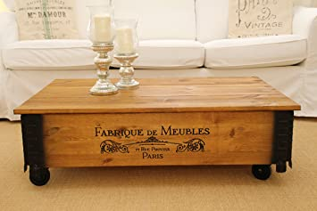 Uncle Joeu0027s Chest Coffee Table Chest Vintage Shabby Chic Country House  Style Solid Wood Walnut Side