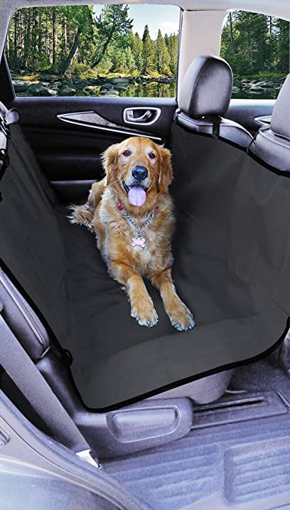 Medium image of major q thick waterproof hammock dog seat cover protection  grey