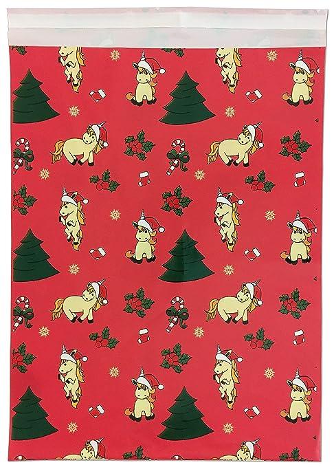 Amazon.com: Poly Mailing, fiestas de navidad Unicorn Mailer ...