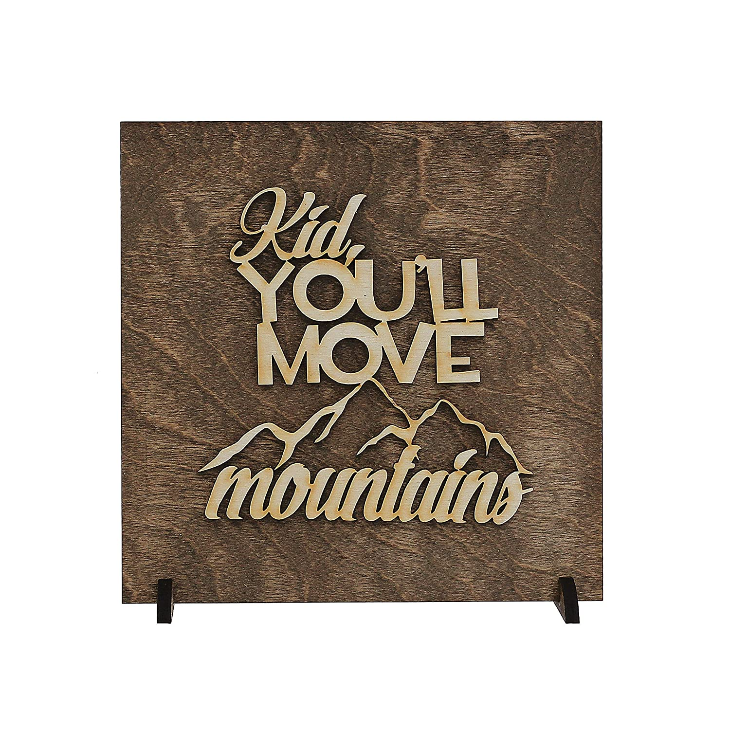MannMade Designs Kid Great Nursery or Childs Room Decor! Youll Move Mountains Wood Sign Home D/écor Wood Banner