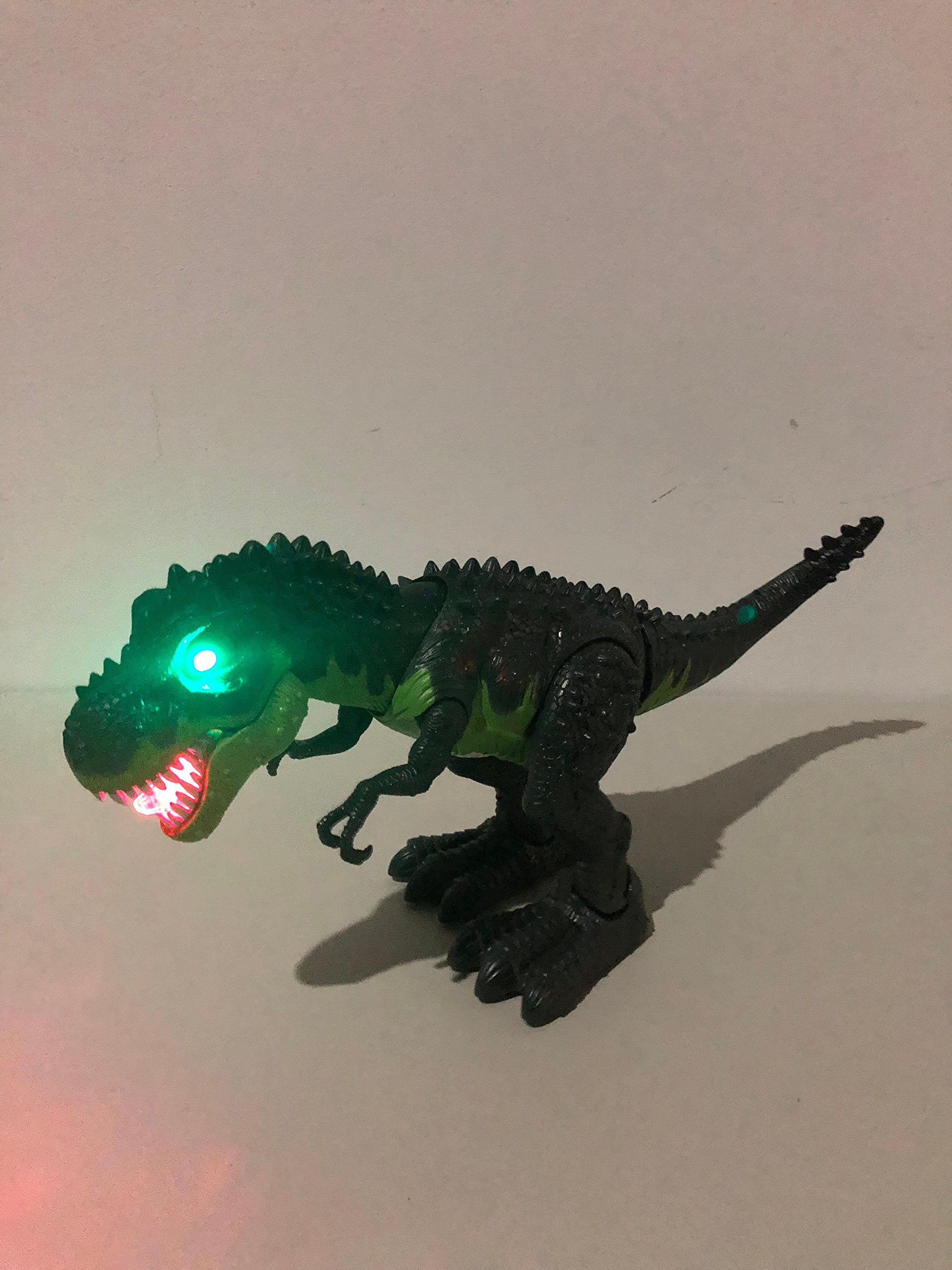 SY WonderPlay Tyrannosaurus T-Rex Dinosaur with Lights and Realistic Sounds Action Figure Toy - Light Up Eyes, Awesome Sounds - Walks on Its Own! - Great Gift Boys 3+,Battery Operate (Green) by SY (Image #8)