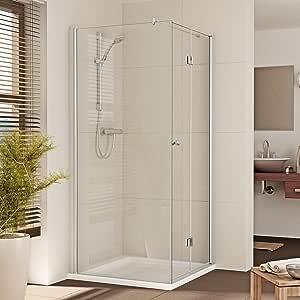 Cabina de ducha Ducha Mampara esquina. Puerta plegable de B: 80 – 110 cm de misma Precio. Deutsche marcas de calidad de Comercio especializado. H: 200 cm: Amazon.es: Hogar