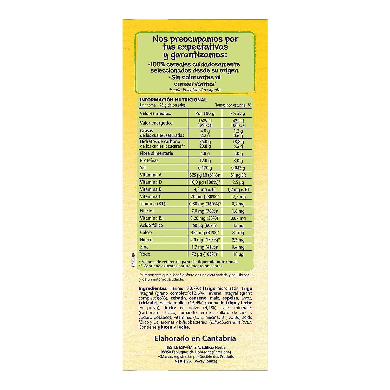 Nestlé Papillas - 8 cereales con Galleta María instantánea, a partir de 6 meses, 900 gr: Amazon.es: Alimentación y bebidas