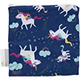 """Itzy Ritzy Reusable Snack Bag – 7"""" x 7"""" BPA-Free Snack Bag is Food Safe, Washable and Ideal for Storing Snacks…"""