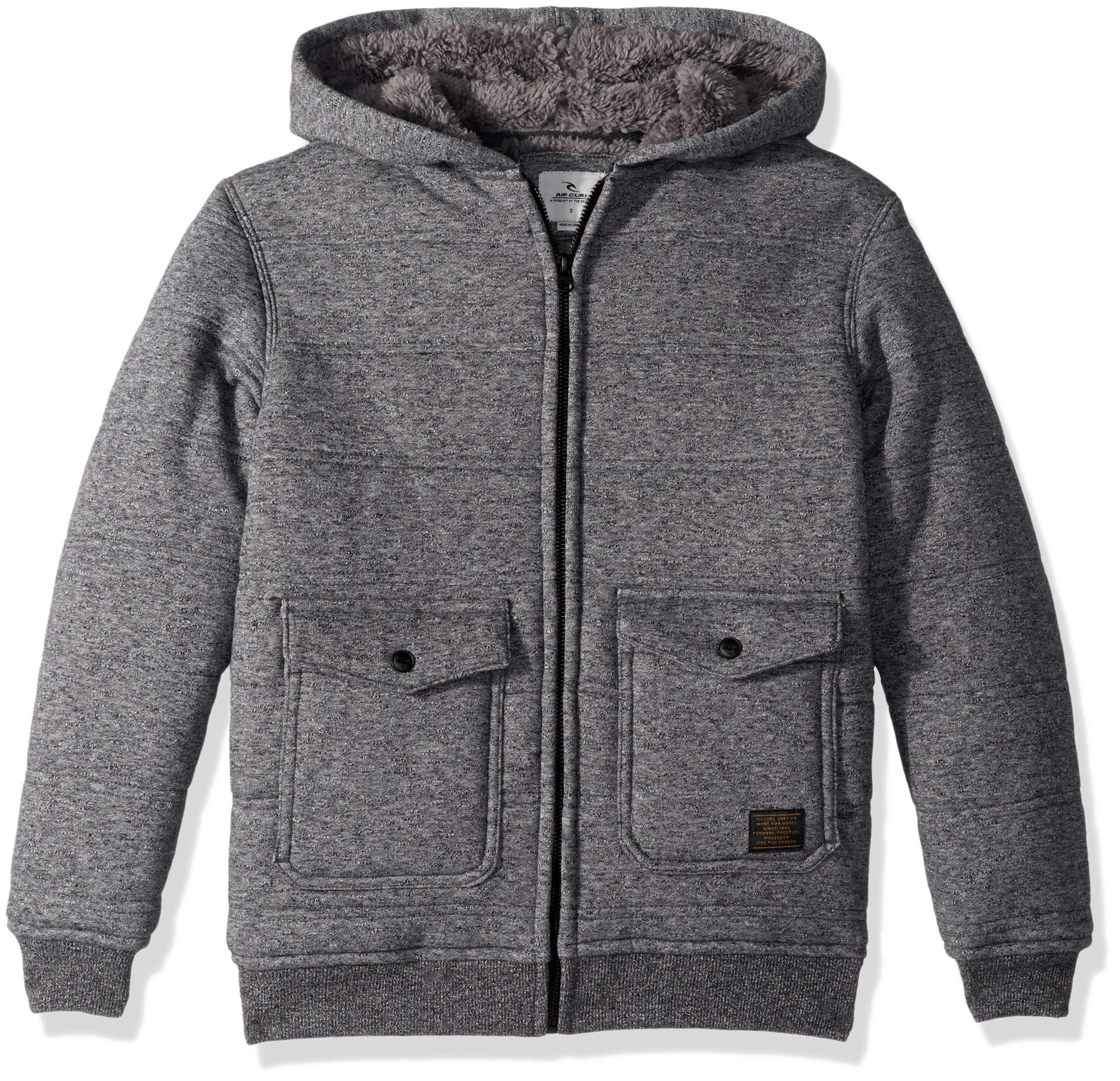 Rip Curl Boys' Big' Destination Sherpa Fleece, Black, S