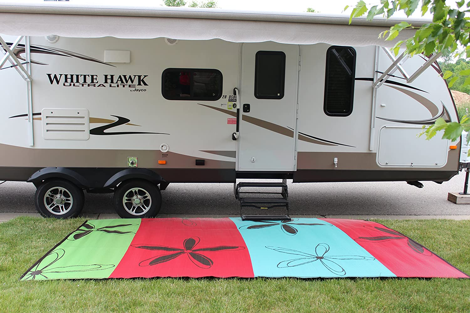 awning american awnings mats rv mat trailer floor camping for ebay outdoor rug usa patio flag