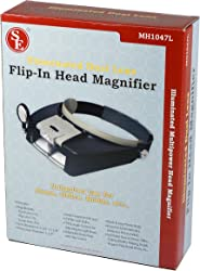 SE Illuminated Dual Lens Flip-In Head Magnifier