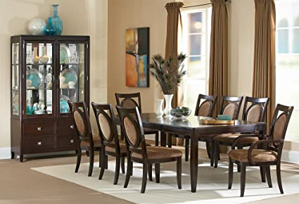 Amazoncom Steve Silver Company Montblanc Table With Two - 30 x 60 dining room table