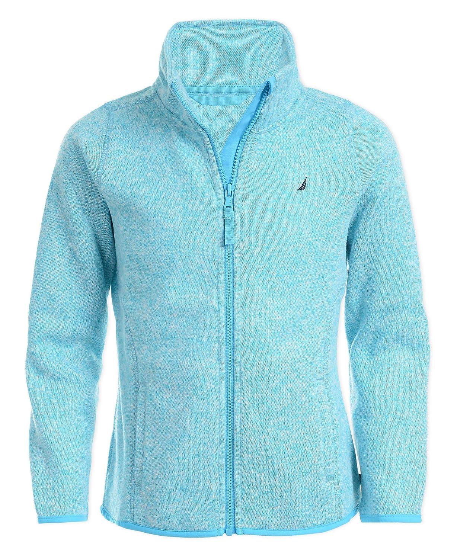 Nautica Girls Uniform Full-Zip Fleece Sweater