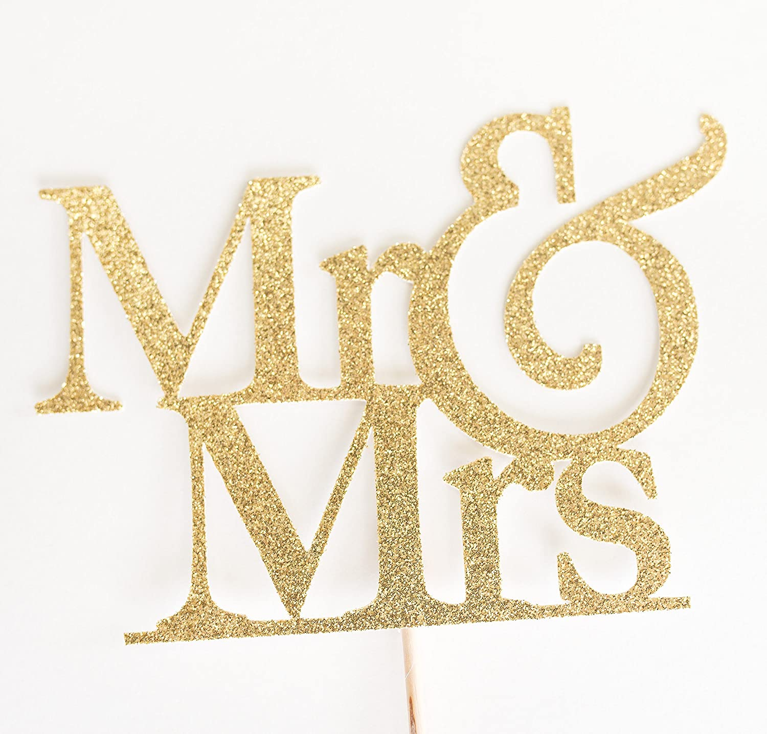 Gold Glitter Mr & Mrs Wedding Cake Topper, and, Rehearsal dinner, engagement party