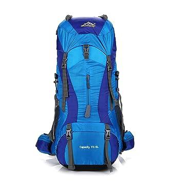 Skytower 75L Senderismo Mochila Mochilas para Excursionismo al Aire Libre Viajes Escalada Camping Impermeable Mountain Top Montañismo Bolsa (Azul): ...