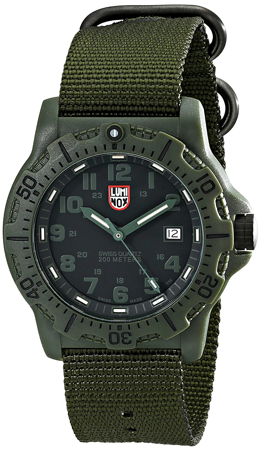 Luminox Herren-Armbanduhr XL Analog Quarz Textil 8817.GO