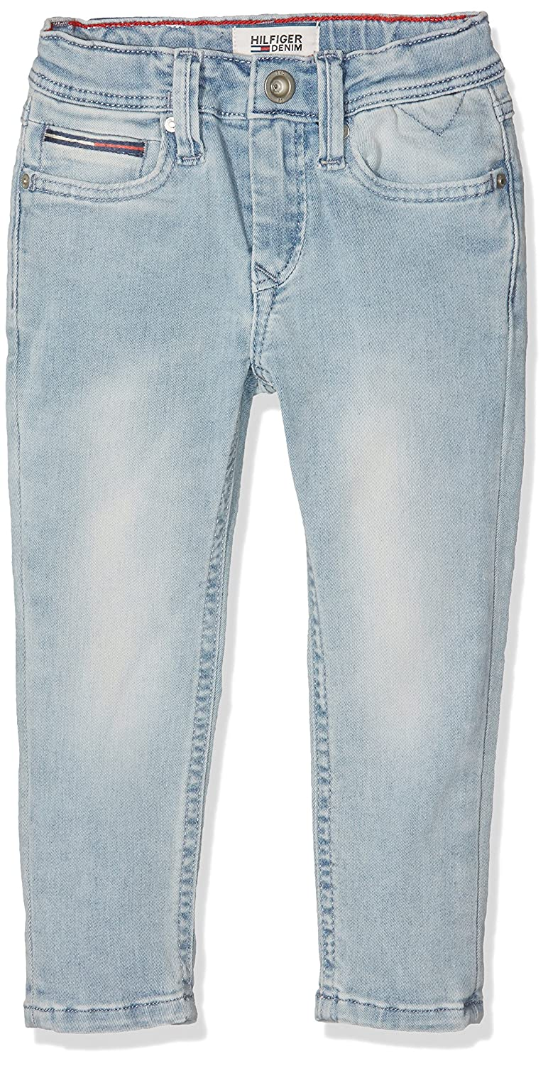 4dfbf66c Tommy Hilfiger Boy's Steve Slim Tapered BBGPSTR Jeans, (Bleach Blue Grey  Power Stretch 911), 5 Years: Amazon.co.uk: Clothing