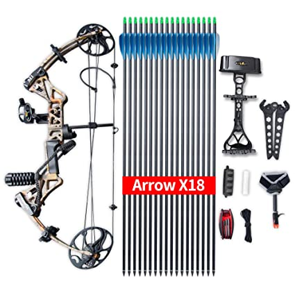 """Review Compound Bow Ship From USA Warehouse,Topoint Archery Package M1, 19""""-30"""" Draw Length,19-70Lbs Draw Weight,320fps IBO LIMBS MADE IN USA"""