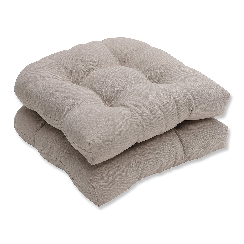 Amazon Pillow Perfect Indoor Outdoor Beige Solid Wicker Seat