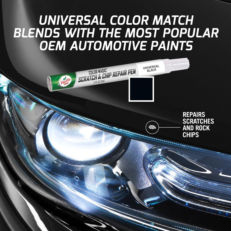 Amazon com turtle wax 50758 color magic scratch and chip repair pen universal black automotive