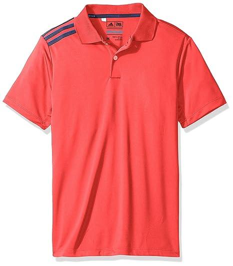 adc064b88a adidas Golf Boys B Climacool 3-Stripes Polo Shirt