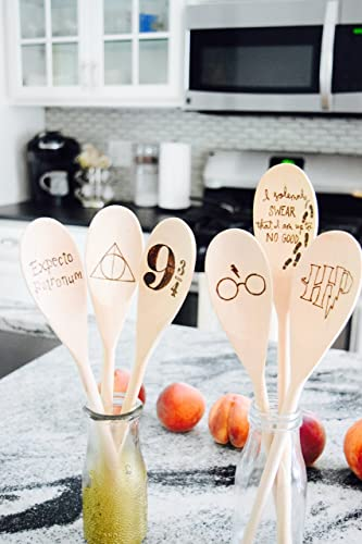harry potter wood burned spoons kitchen wooden spoons fan christmas gifts