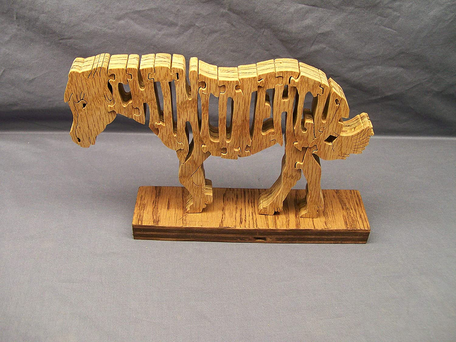 Handmade Wooden Woodimal Horse Puzzle Chincoteaque