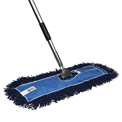 Nine Forty Residential | Commercial 36 Inch Janitorial USA Floor Dry Dust  Mop Broom Set | Handle