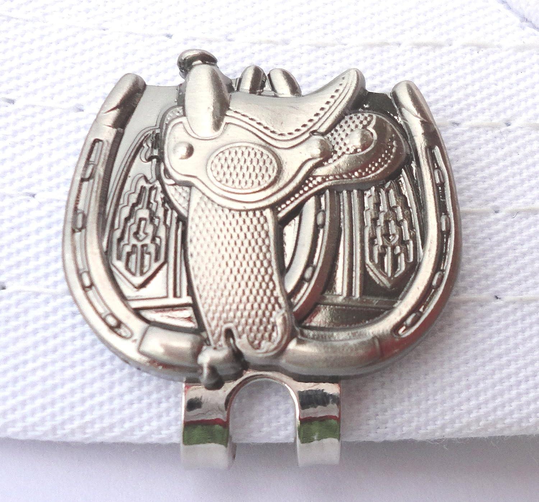 ダブルHorseshoeサドルゴルフボールマーカー磁気ハットクリップ   B078HPP465