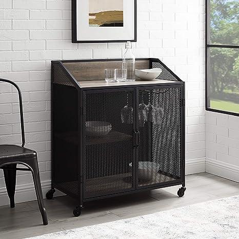 Amazon Com Vintage Metal Cabinet Home Amp Kitchen