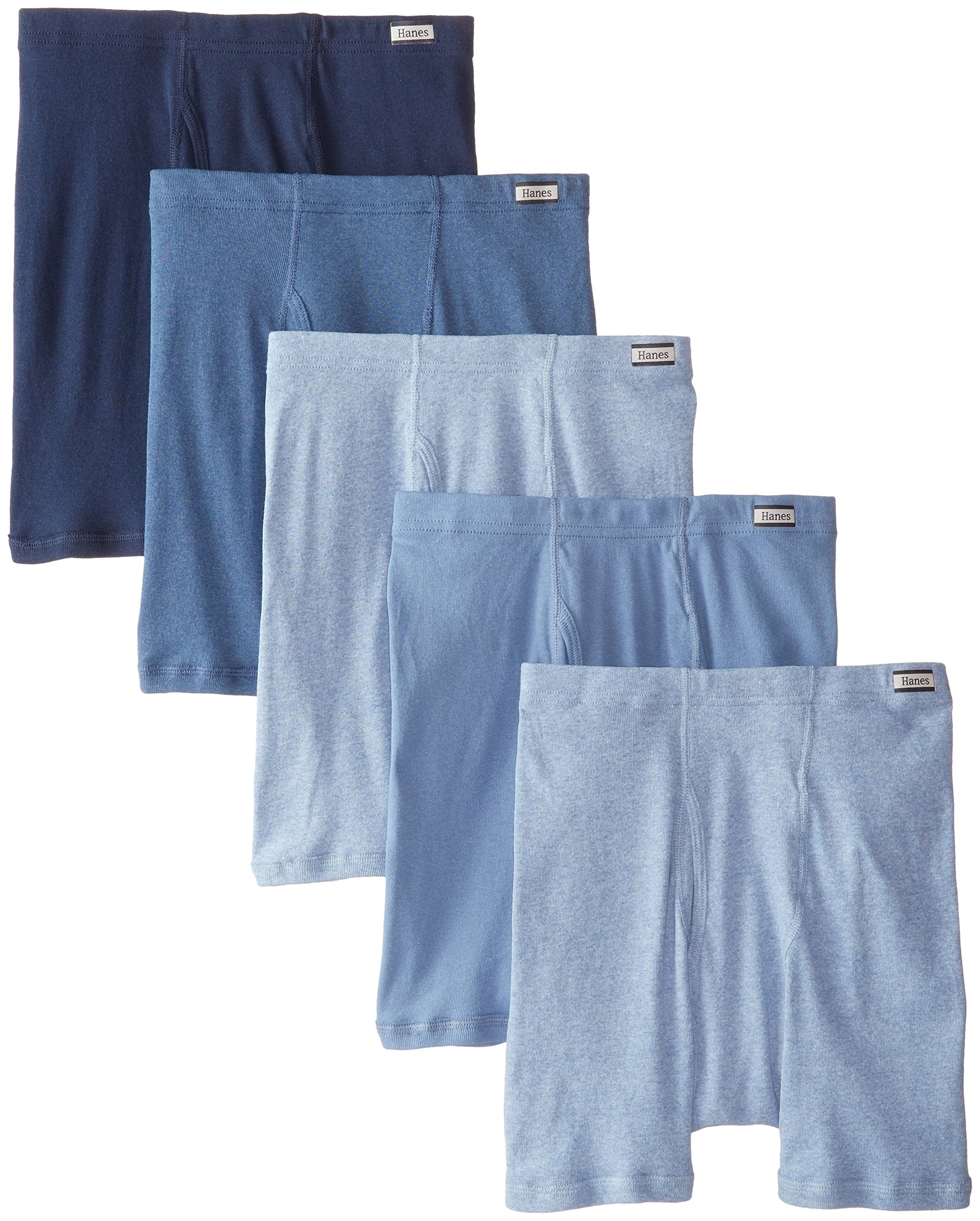 Hanes Men`s TAGLESS Boxer Briefs with ComfortSoft Waistband,7460Z5,L,Assorted(5-pack)