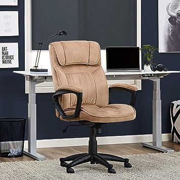 Terrific Serta Style Hannah I Office Chair Microfiber Light Beige Bralicious Painted Fabric Chair Ideas Braliciousco