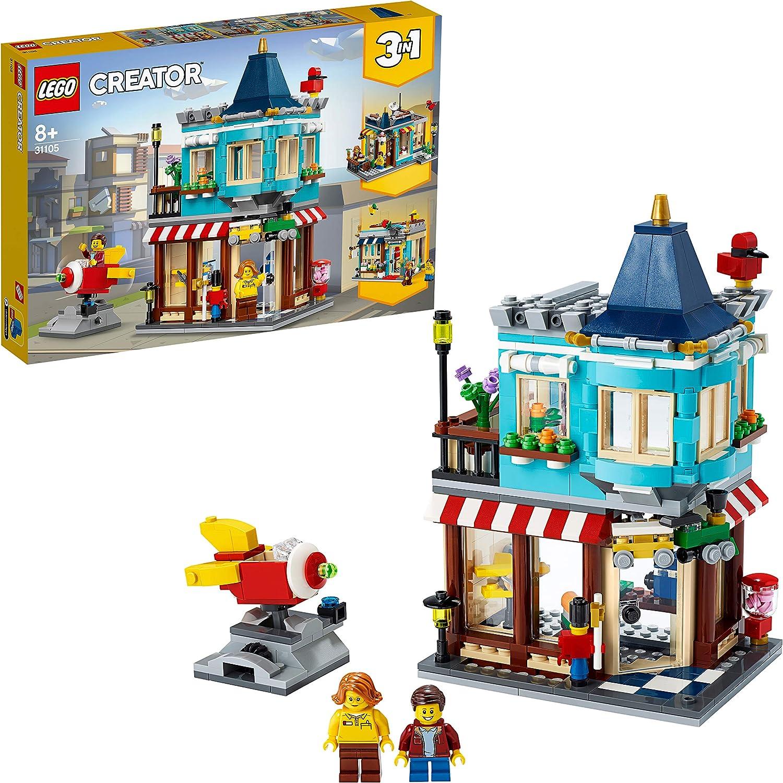 LEGO Creator - Tienda de Juguetes Clásica, Set de Construcción con Edificios de Juguete 3 en 1, Incluye Varias Minifiguras para Recrear Escenas Cotidianas (31105)