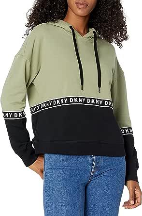 DKNY Mesh Crew Neck Top Camisa para Mujer