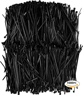Amazon.com: 450pc Cable Ties Black and White 4+6+8+12-Inch Self ...
