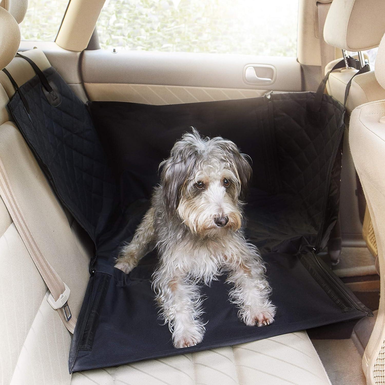 Asiento para Perros para Asiento Trasero - 60 x 53 x 35 cm - Robustas Varillas de Fibra de Vidrio - Ajuste Universal para Todos los Coches - Protector del ...