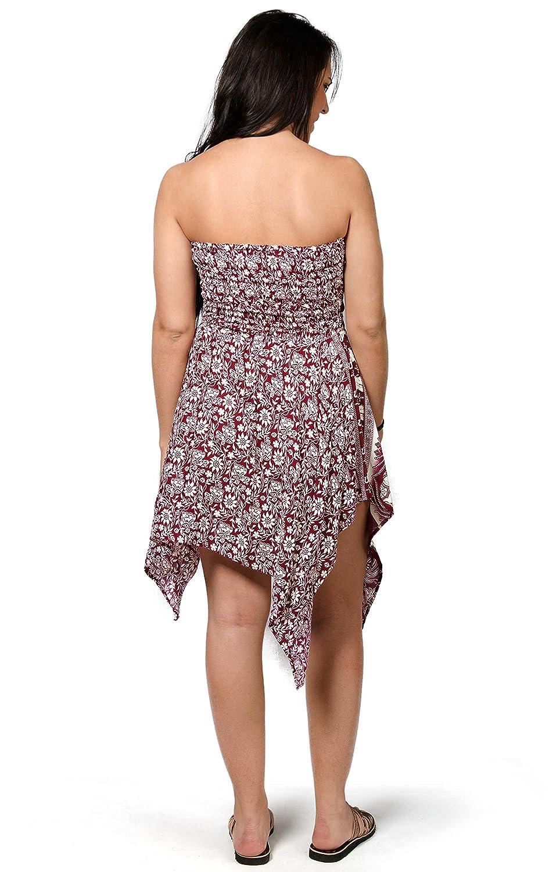 d05f2618960 TCG Women s Elephant Print Fairy Dress Skirt - Red at Amazon Women s  Clothing store