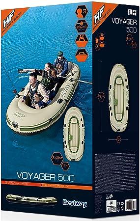 Bestway Voyager 500 Barca Hinchable para 3 persona, 2 remos: Amazon.es: Juguetes y juegos