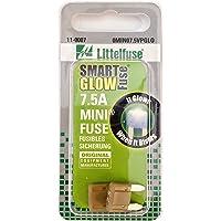 Littelfuse 0MIN07.5VPGLO MINI SmartGlow12 Volt DC 7.5 Amp Fuse, (Pack of 2)