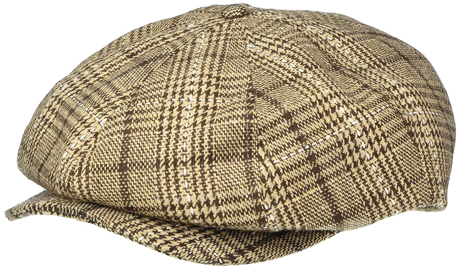 1920s Mens Hats & Caps | Gatsby, Peaky Blinders, Gangster BRIXTON Mens Brood Newsboy Snap Hat $37.11 AT vintagedancer.com