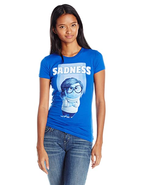 09d2abac Disney Juniors Inside Out Sadness Graphic T-Shirt
