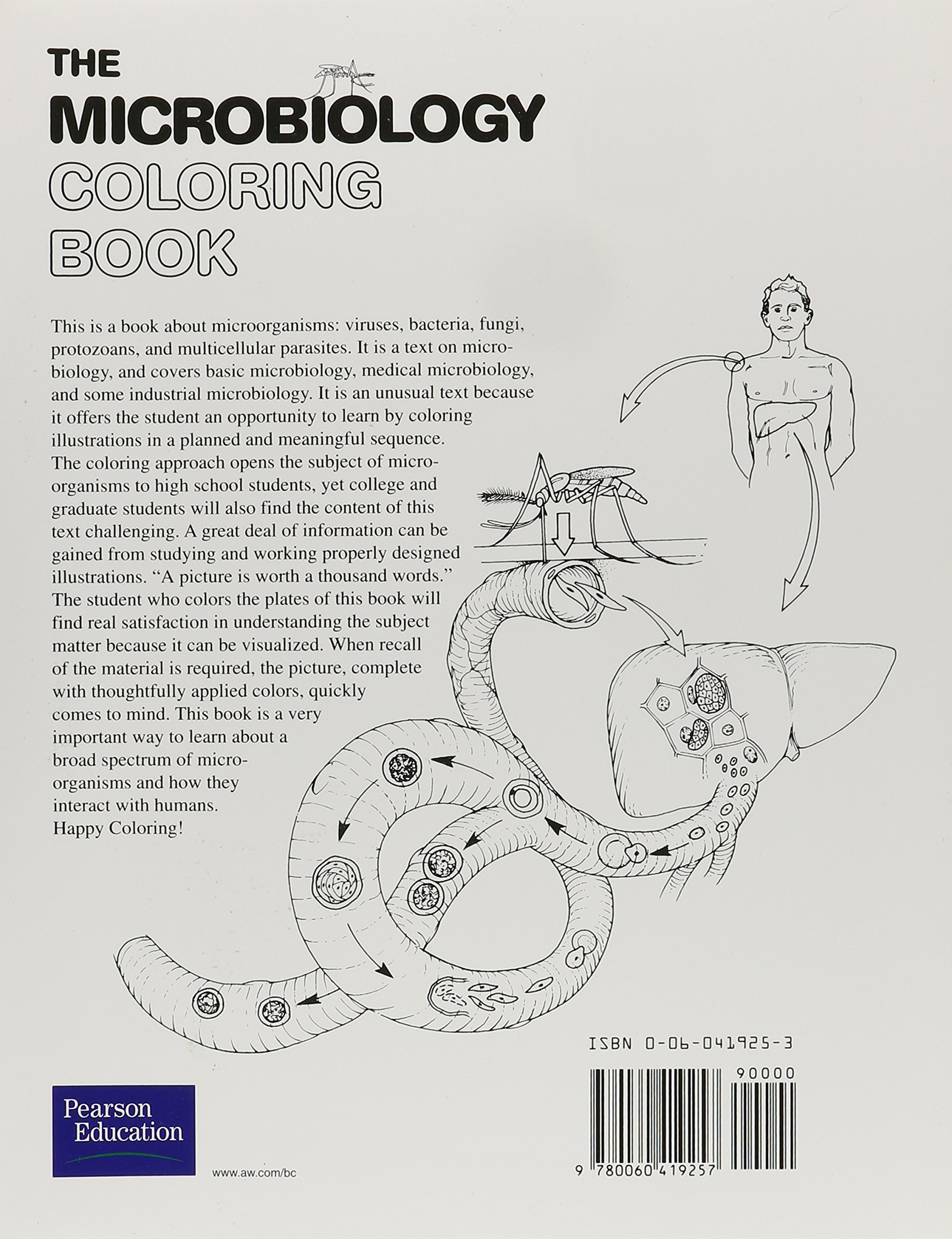 the microbiology coloring book amazoncouk i edward alcamo 9780321654601 books - Microbiology Coloring Book