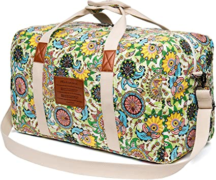Amazon.com: Malirona - Bolsa de viaje de lona para fin de ...