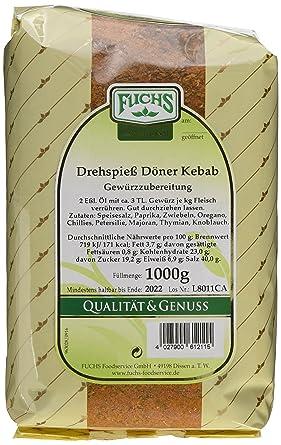 Fuchs Gewürze Drehspiess Döner Kebab 2er Pack 2 X 1 Kg Amazonde