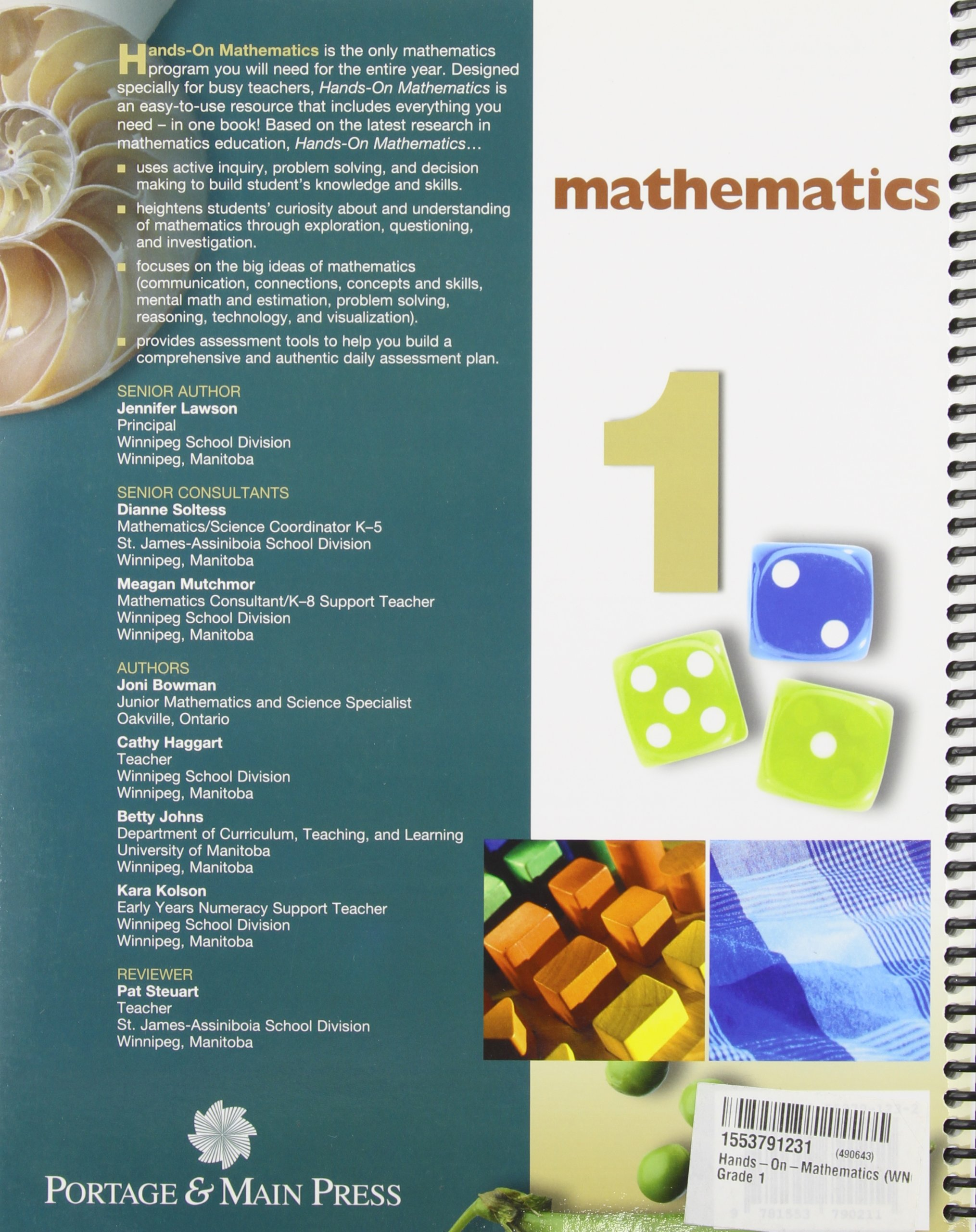 Hands-On Mathematics, Grade 1: Amazon.ca: Jennifer Lawson: Books